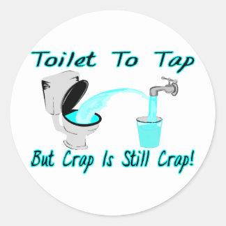 Sticker Rond Toilette à taper