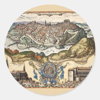 Sticker Rond Toledo Espagne 1566