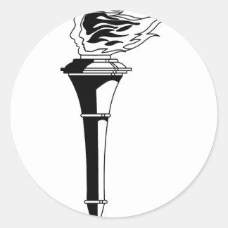 Sticker Rond Torche