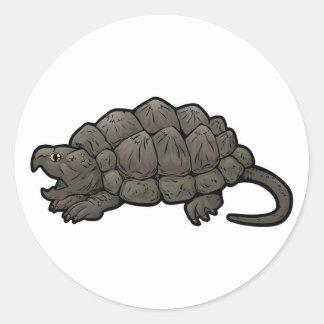 Sticker Rond Tortue de rupture d'alligator