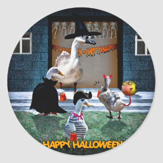 Sticker Rond Tour de Halloween ou temps de festins !