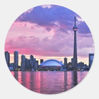 Sticker Rond Tour de NC : Vue d'île centrale Toronto