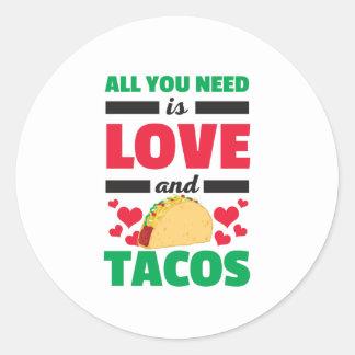 Sticker Rond Tout que vous avez besoin est les Valentines