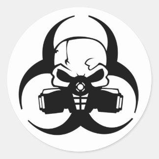 Sticker Rond Toxique