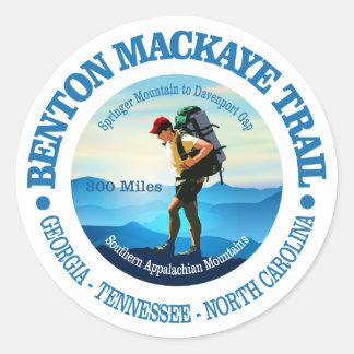 Sticker Rond Traînée de Benton MacKaye (randonneur C)