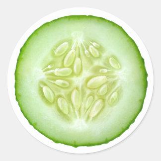 Sticker Rond Tranche de concombre