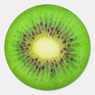 Sticker Rond Tranche de kiwi