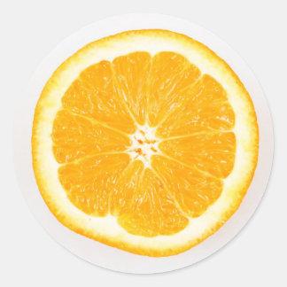 Sticker Rond Tranche orange