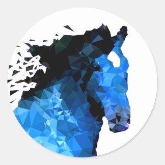 Sticker Rond Triangle de cheval