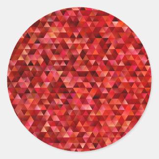 Sticker Rond Triangles sanglantes