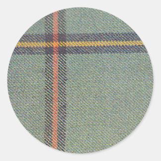 Sticker Rond Tribu de mars/de tartan antique de Marr