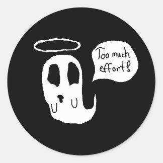 Sticker Rond Trop d'effort Ghosty
