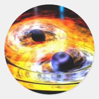 Sticker Rond trou noir