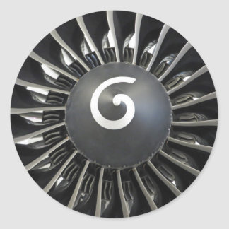 Sticker Rond Turbine d'avion