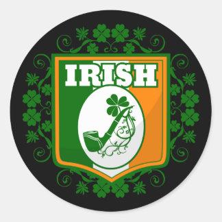 Sticker Rond Tuyau de Jour de la Saint Patrick