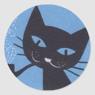 Sticker Rond Tuyau de tabagisme polonais de chat d'étiquette de