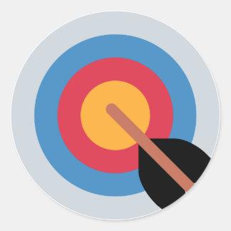 Sticker Rond Twitter Emoticon - target archery