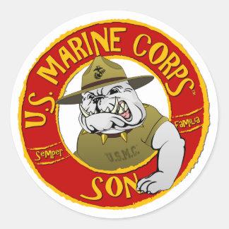 Sticker Rond U.S. Fils de Marine Corps