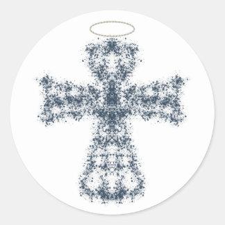 Sticker Rond Un ange à observer au-dessus de vous…