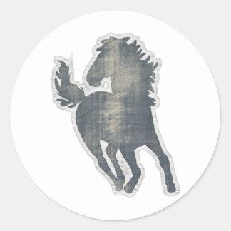 Sticker Rond Une histoire de cheval