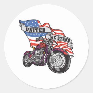 Sticker Rond Uni nous nous tenons