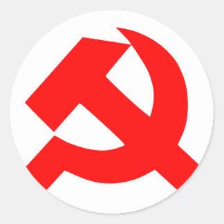 Sticker Rond Union Soviétique primitive CCCP de marteau et de