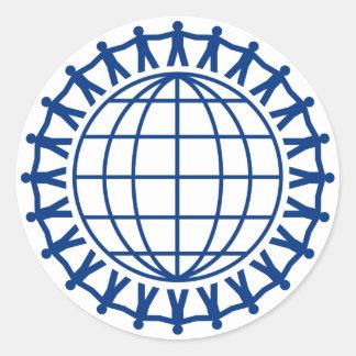 Sticker Rond Unissez autour du monde