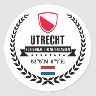 Sticker Rond Utrecht