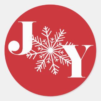 Sticker Rond Vacances de fête de la joie |