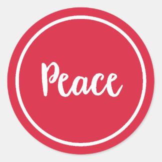 Sticker Rond Vacances de la paix |