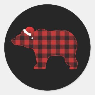Sticker Rond Vacances simples de Noël de Buffalo de silhouette
