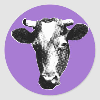 Sticker Rond Vache à art de bruit