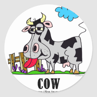 Sticker Rond Vache par le © de Lorenzo Lorenzo 2018 Traverso