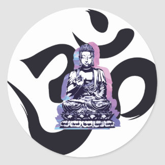 Sticker Rond vague 3 de Bouddha