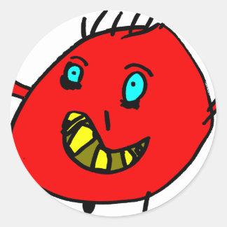 Sticker Rond Valérian le gentil monstre - Axel Ville