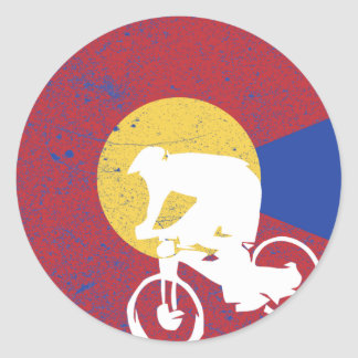Sticker Rond Vélo de montagne le Colorado