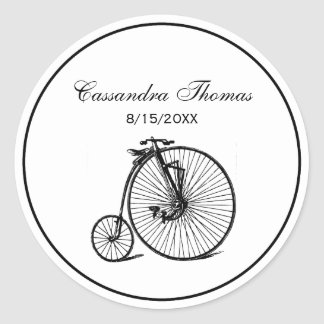 Sticker Rond Vélo vintage de bicyclette de vélo sur rail