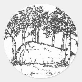 Sticker Rond Verger d'Aspen