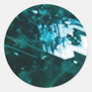 Sticker Rond verre vert brisé