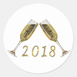 Sticker Rond Verres 2018 de Champagne