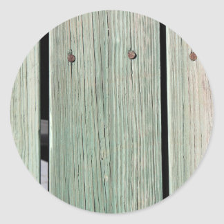 Sticker Rond Vert et passage couvert en bois de planche de