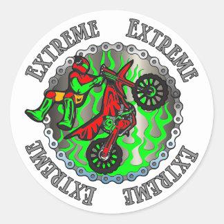 Sticker Rond Vert extrême
