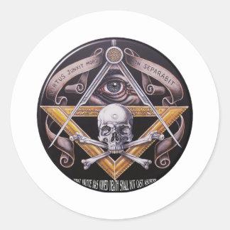 Sticker Rond Vertu maçonnique