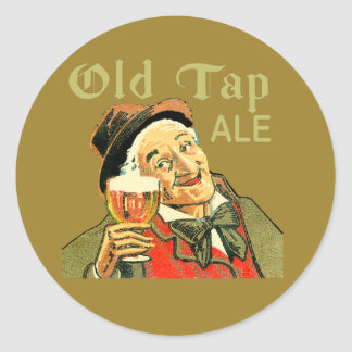 Sticker Rond Vieille bière anglaise de robinet