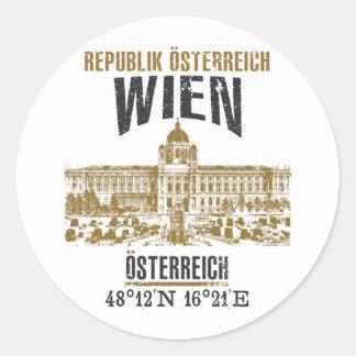 Sticker Rond Vienne