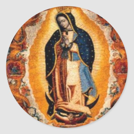 Sticker Rond Vierge de Guadalupe