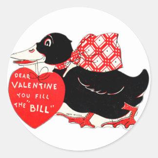 Sticker Rond Vieux canard vintage de Valentine