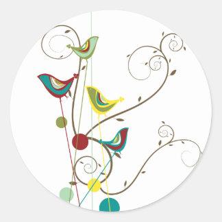 Sticker Rond Vignes modernes de nature d'été de remous