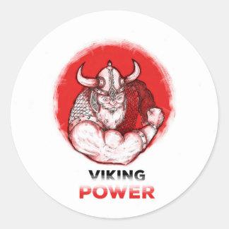 Sticker Rond viking power