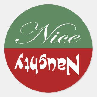 Sticker Rond Vilain ou Nice